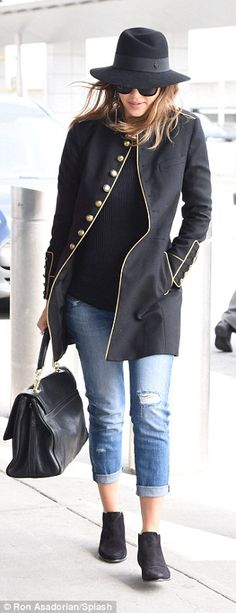 Flight plan: Jessica continued to look like the California girl as she arrived at JFK Airp...