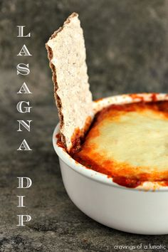 Lasagna Dip Recipe Lasagna Dip from Seriously simple to make and absolutely delicious to munch on The perfect appetizer recipe for parties Dive right in Appetizer Dips, Best Appetizers, Appetizer Recipes, Dip Recipes, Cooking Recipes, Cheese Recipes, Recipies, Snack Recipes, Lasagna Dip