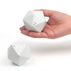 Can't you see these painted like a d20?  Salt & Pepper Shaker icosa by TaiDesign on Etsy, $35.00