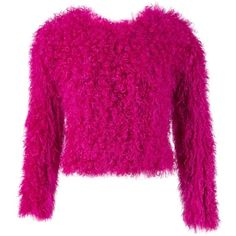 Pre-owned Thakoon Mongolian Lamb Jumper ($195) ❤ liked on Polyvore featuring tops, sweaters, pink, women clothing knitwear, pink top, fur sweater, jumpers sweaters, knitwear sweater and pink jumper