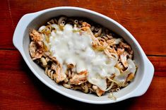BBQChicken Casserole.. Made this tonight with leftover grilled bbq chicken, everyone loved it!
