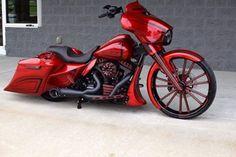 Apple Red Candy BX Custom Designs H-D Street Glide   Baggers
