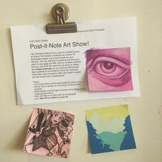 High school art projects - 25 Sticky Note Teacher Hacks You'll Want to Steal – High school art projects Arte Post It, Post It Art, High School Art Projects, Art School, Art Club Projects, Middle School Crafts, Collaborative Art Projects For Kids, School Kids, Clay Projects