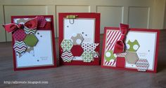 "all i create: Six Sided Sampler... - the sentiment says ""thanks"" but the colors make me think ""Christmas"""