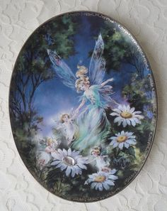 Vintage Gem Light Gem Bright Bradford Exchange 1st Issue Collector Plate, Fairy Wings & Magic Things