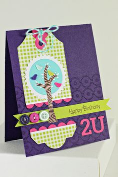 Trendy Tree Tops Birthday Card by Erin Lincoln for Papertrey Ink (April 2012)