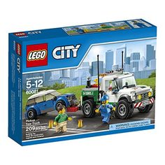 Oh no. the car has broken down! Another job for the LEGO City roadside recovery service! Jump aboard the Pickup Tow Truck turn on the warning beacon and race to the stranded driver's assistance. If a...