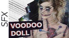VooDoo Doll   SFX Halloween Makeup/Hair Tutorial