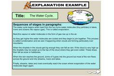 Explanation text - examples that relate to the children?