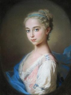 Portrait of a Young Girl, Follower of WIlliam Hoare, late 18th century. The hairstyle with fillet and chignon shows the neo-classical influence, a style in vogue in the latter part of the eighteenth century and favored by the likes of Angelica Kauffmann, which suggests the portrait was finished sometime after 1780. Miles Barton - Period paintings, historical portraits and fine art in London
