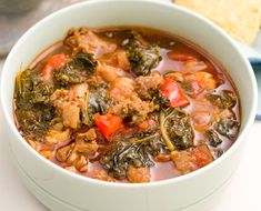 Spicy Turkey Sausage and Kale ChiliDelish