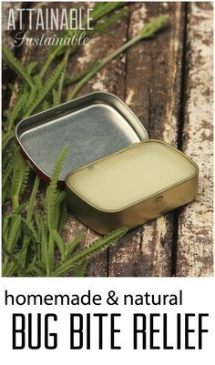 If you spend any time outdoors at all you're sure to find yourself with the occasional bug bite. This non-toxic bug bite balm will help soothe those bites. - uses sunflower oil, lavender flowers, beeswax, lavender essential oil.