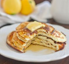 Take Pancakes Up a Notch: 10 mix-ins that make mornings brighter  My favorite: sour cream pancakes with lemon zest, or oatmeal pancakes.