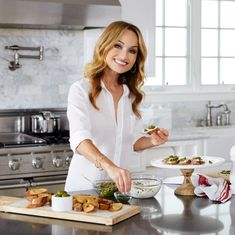 Giada De Laurentiis has plenty of menus, gift picks and entertaining ideas. Here's how to host like Giada De Laurentiis. Gluten Free Crisps, Giada Recipes, Cooking Photography, Goat Cheese Salad, Giada De Laurentiis, Cheese Platters, Food Network Recipes, Food And Drink, Entertaining