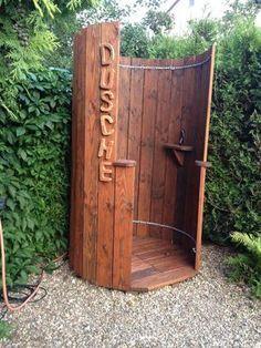 Wooden #outdoor #garden #shower…
