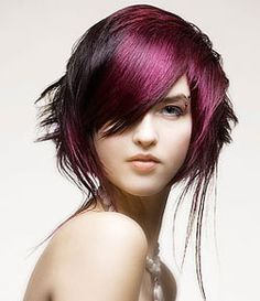Purple Hair Dye is New Pretty Style for You Today ~ Hair Trends Funky Hair Colors, Hair Color For Black Hair, Purple Hair, Purple Streaks, Violet Hair, Hair Colours, Creative Hairstyles, Funky Hairstyles, Virtual Hair Color