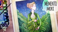 Watercolor and Ink Speedpaint ♦ Memento Mori ♦ Copic Muliliner