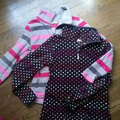 2 fleece zip jackets Like new 1 strip. 1 dots Old Navy Jackets & Coats