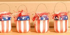 flag jars from baby food jars
