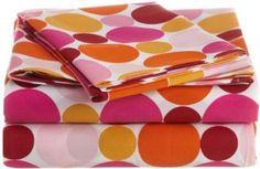 Amazon.com: Martex Pink Dot Twin Sheet Set: Home & Kitchen
