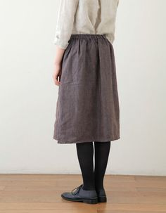 fog linen - aneri:  gathered skirt