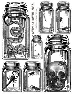 Awesome Vintage Halloween Kit! TGF Premium - The Graphics Fairy