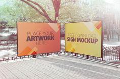 Sign Mockup 01 on Behance