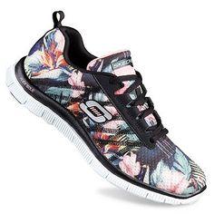 Skechers Flex Appeal Floral Bloom Women's Training Shoes. Want.