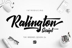 Ralington Script by TheBrosnes on @creativemarket