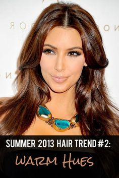 Summer 2013 Hair Trend #3: Warm Hues #warmbrown #coppertones #summerhair #summerhairstyles #hairtrends