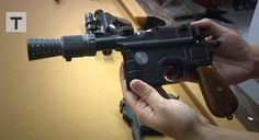 Adam Savage Creates Flawless Han Solo Blaster Replica #geek #starwars
