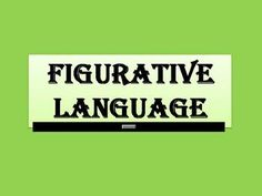 Free!!! Animated PowerPoint presentation on figurative language.