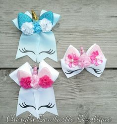 Your place to buy and sell all things handmade Diy Bow, Diy Ribbon, Ribbon Crafts, Ribbon Bows, Unique Hair Bows, Handmade Hair Bows, Diy Hair Bows, Hair Bow Tutorial, Flower Tutorial
