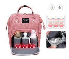Easily store all the childhood essentials in the Mommy Diaper Bag Backpack. Featuring high-quality materials, convenient pockets, and comfortable backpack straps, always be prepared with snacks, extra diapers, a change of clothes, milk bottles, and toys for every outing.