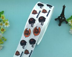"1"" White Bear Grosgrain Printed Ribbon 5 yards Free Shipping for HairBow & DIY #AVA"