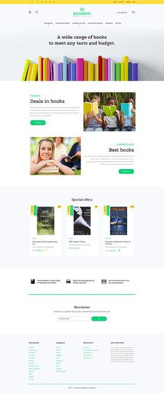 Bookinti - #book  Store #prestashop  #theme