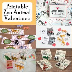 Zoo Animal Printable Valentine's. Free Zoo Animal printable Valentine's Day Cards  #printable #printablesforkids #valentinesday #valentine #animals