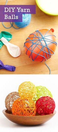 DIY Yarn Balls More:
