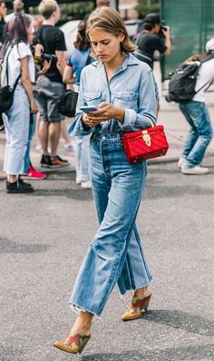 In need of some fresh ideas for wearing jeans to work? We're here to offer up a few of our favorite denim looks. See what our editors dreamed up for fall.