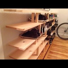 This one would look nice with a stain and better risers