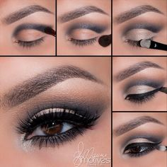 """MotivesCosmetics - Cut crease by slightly above the crease, keeping to your own natural eye shape out """"Cappuccino"""" any harsh edges until you have a smooth transition between both colors """"Bling"""" shadow pat over (pink cut crease makeup) Navy Eye Makeup, Eye Makeup Tips, Eyeshadow Makeup, Beauty Makeup, Eyeshadow Palette, Metallic Eyeshadow, Makeup Eyes, Cut Crease Eyeshadow, Liquid Eyeshadow"""