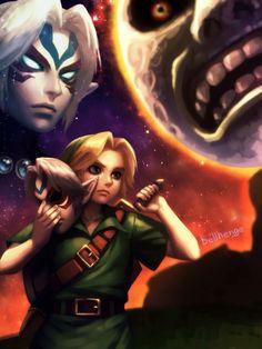Majora's Mask | Link, Fierce Deity, Moon