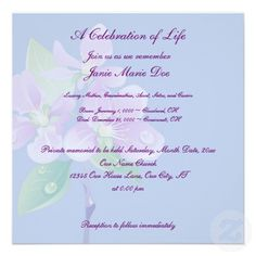 18 best celebration of life invitations images on pinterest celebration of life invitation stopboris Gallery
