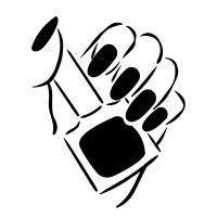Check out Manicure icon created by Alice Noir Nail Polish Bottles, Glitter Nail Polish, Nail Logo, Black Aesthetic Wallpaper, Cactus Drawing, Nail Polish Hacks, Vector Free, Vector Icons, Royalty Free Icons