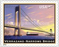 [Priority Mail - The 50th Anniversary of the Verrazano Narrows Bridge, type GLO]