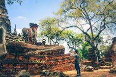 Ayutthaya Thailand - เที่ยวเมืองเก่าอยุธยา Firewood, Texture, Crafts, Surface Finish, Woodburning, Manualidades, Handmade Crafts, Craft, Crafting