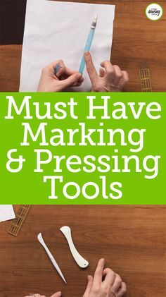Marking and pressing are two of the most important aspects of sewing. Ellen March teaches us about some useful sewing tools that can make these things a bit easier and less of a hassle for sewers. Watch this video tutorial to become more efficient with marking and pressing your sewing projects today!