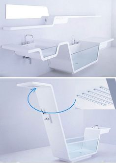 futuristic bathroom furniture design