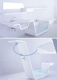 futuristic bathroom furniture design