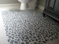 This is what I want to do with my bathroom!  Need to find a how to...